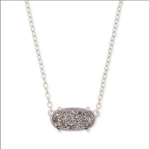 Kendra Scott Ever Silver Pendant Necklace in Drusy